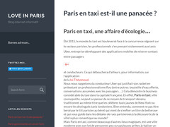 "Blog internet informatif nommé ""Love in Paris"""